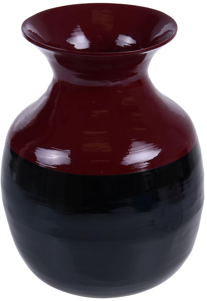 Ваза Черный жемчуг, цвет: черный, 45 см1047879Вьетнамская Ваза Черный жемчуг, 45 см выполнена из натурального бамбука вручную мастерами-ремесленниками в соответствии с древними традициями обработки этого волшебного дерева. Необычная фактура, цвет, форма, завораживают взгляд. Она станет прекрасным дополнением любой комнаты. Поставьте в неё красивую композицию из ветвей, трав, сухоцветов или даже гирлянд. Также эта великолепная ваза будет отлично смотреться как самостоятельный предмет интерьера. Она элегантна и восхитительна сама по себе! Нежелательно в вазу наливать воду, так как она плохо переносит сырость из-за отсутствия лака на внутренних стенках. Отлично подойдет в качестве украшения дома или офиса, а также под декоративные цветы.