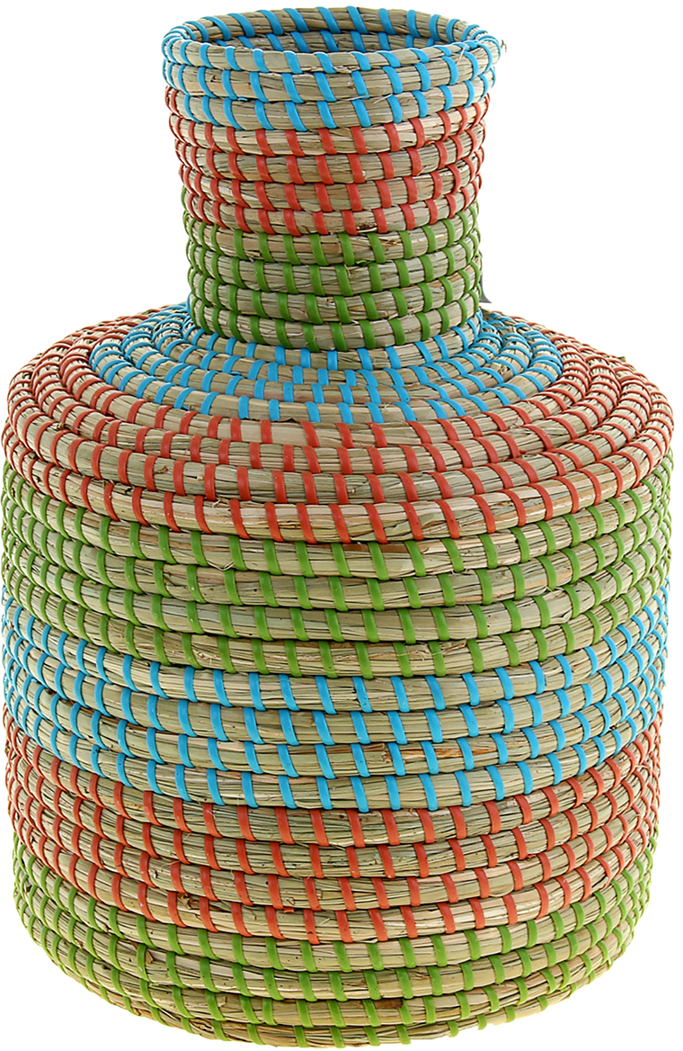 """Ваза плетёная """"Тху"""" – это настоящее произведение искусства. Вьетнамские ремесленники долго и кропотливо, стежок за стежком, плели эту  невероятную экзотическую вазу из настоящих морских водорослей. Вы только взгляните: ровный рисунок, чёткие линии, приятные тона -  чувствуется опытная рука мастера. Пусть эта роскошная Ваза плетеная """"Тху"""" станет приятным подарком ценителю плетёных изделий, коллекционеру экзотических аксессуаров или  даме с завидным вкусом. Разместите её в комнате на самом видном месте, создайте композицию с декоративными ветками, сухоцветами, чтобы  привнести ощущение легкости, изящества и тепла. Ведь известно, что уют проявляется в деталях. Так как ваза плетёная в неё нельзя наливать воду или любую другую жидкость."""