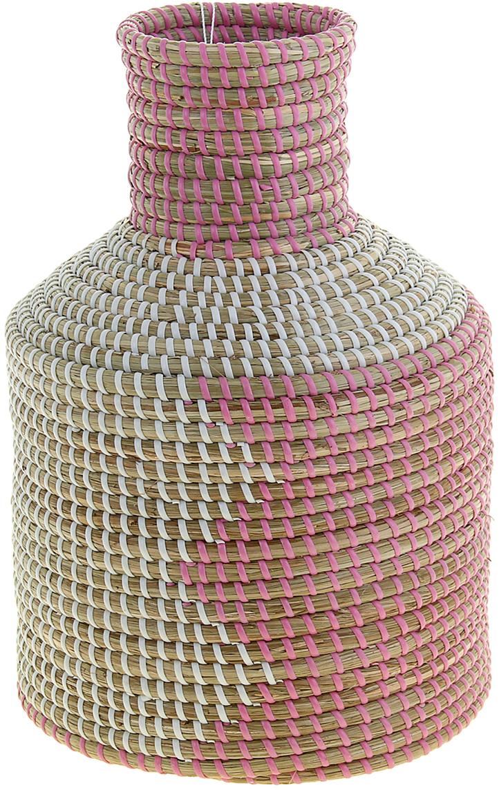 Ваза плетеная Хонг, цвет: розовый, 33 см1047883Это не просто ваза – это настоящее произведение искусства. Вьетнамские ремесленники долго и кропотливо, стежок за стежком, плели эту невероятную экзотическую вазу из настоящих морских водорослей. Вы только взгляните: ровный рисунок, чёткие линии, приятные тона - чувствуется опытная рука мастера. Пусть эта роскошная Ваза плетеная Хонг станет приятным подарком ценителю плетёных изделий, коллекционеру экзотических аксессуаров или даме с завидным вкусом. Разместите её в комнате на самом видном месте, создайте композицию с декоративными ветками, сухоцветами, чтобы привнести ощущение легкости, изящества и тепла. Ведь известно, что уют проявляется в деталях. Так как ваза плетёная в неё нельзя наливать воду или любую другую жидкость.