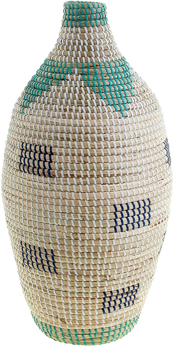 Ваза плетеная Хоан, цвет: белый, 55 см1047885Это не просто ваза – это настоящее произведение искусства. Вьетнамские ремесленники долго и кропотливо, стежок за стежком, плели эту невероятную экзотическую вазу из настоящих морских водорослей. Вы только взгляните: ровный рисунок, чёткие линии, приятные тона - чувствуется опытная рука мастера. Пусть эта роскошная Ваза плетеная Хоан станет приятным подарком ценителю плетёных изделий, коллекционеру экзотических аксессуаров или даме с завидным вкусом. Разместите её в комнате на самом видном месте, создайте композицию с декоративными ветками, сухоцветами, чтобы привнести ощущение легкости, изящества и тепла. Ведь известно, что уют проявляется в деталях. Так как ваза плетёная в неё нельзя наливать воду или любую другую жидкость.