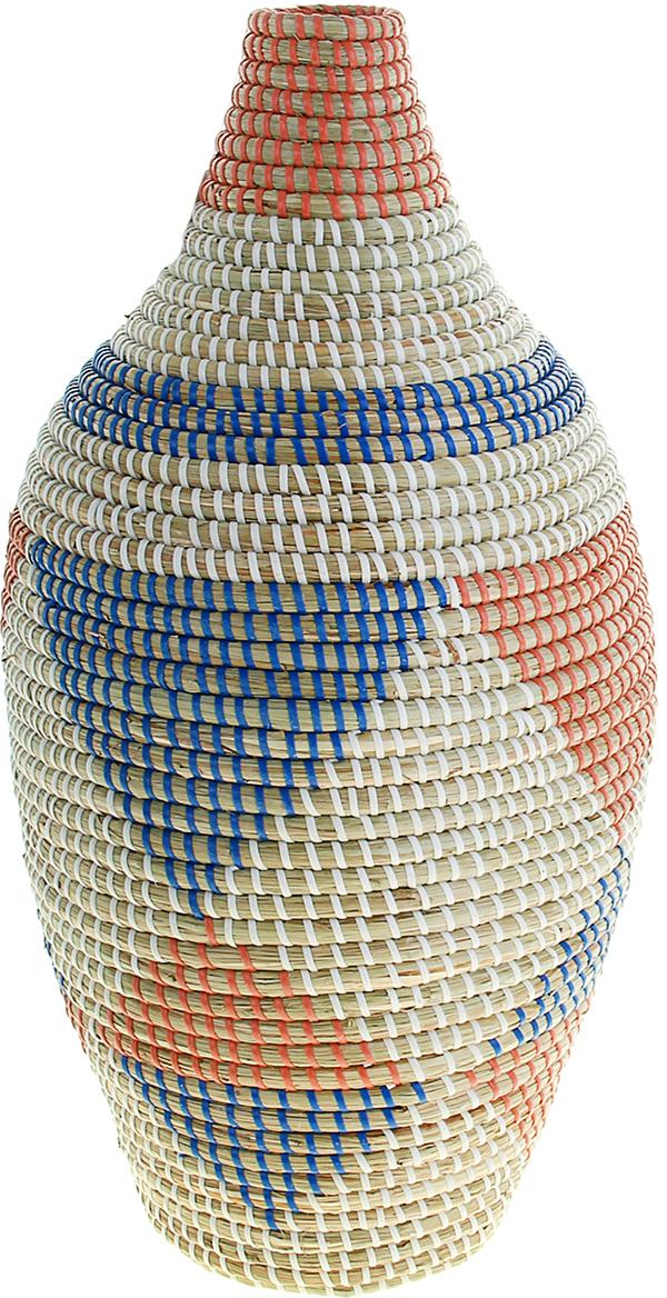 Ваза плетеная Май, цвет: белый, 55 см1047888Это не просто ваза – это настоящее произведение искусства. Вьетнамские ремесленники долго и кропотливо, стежок за стежком, плели эту невероятную экзотическую вазу из настоящих морских водорослей. Вы только взгляните: ровный рисунок, чёткие линии, приятные тона - чувствуется опытная рука мастера.Пусть эта роскошная Ваза плетеная Май станет приятным подарком ценителю плетёных изделий, коллекционеру экзотических аксессуаров или даме с завидным вкусом. Разместите её в комнате на самом видном месте, создайте композицию с декоративными ветками, сухоцветами, чтобы привнести ощущение легкости, изящества и тепла. Ведь известно, что уют проявляется в деталях.Так как ваза плетёная в неё нельзя наливать воду или любую другую жидкость.
