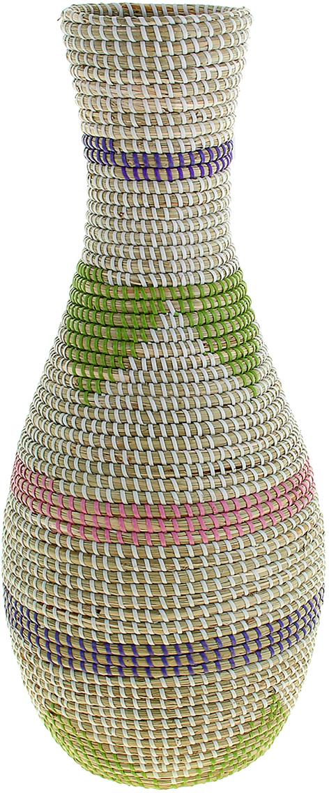 Ваза плетеная Лиен, цвет: белый, 60 см1047893Ваза плетёная Лиен – это настоящее произведение искусства. Вьетнамские ремесленники долго и кропотливо, стежок за стежком, плели этуневероятную экзотическую вазу из настоящих морских водорослей. Вы только взгляните: ровный рисунок, чёткие линии, приятные тона -чувствуется опытная рука мастера. Пусть эта роскошная Ваза плетеная Лиен станет приятным подарком ценителю плетёных изделий, коллекционеру экзотических аксессуаровили даме с завидным вкусом. Разместите её в комнате на самом видном месте, создайте композицию с декоративными ветками, сухоцветами,чтобы привнести ощущение легкости, изящества и тепла. Ведь известно, что уют проявляется в деталях. Так как ваза плетёная в неё нельзя наливать воду или любую другую жидкость.