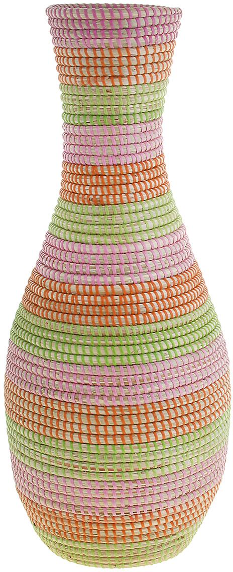 Ваза плетеная Минь, цвет: розовый, 60 см1047894Это не просто ваза – это настоящее произведение искусства. Вьетнамские ремесленники долго и кропотливо, стежок за стежком, плели эту невероятную экзотическую вазу из настоящих морских водорослей. Вы только взгляните: ровный рисунок, чёткие линии, приятные тона - чувствуется опытная рука мастера. Пусть эта роскошная Ваза плетеная Минь станет приятным подарком ценителю плетёных изделий, коллекционеру экзотических аксессуаров или даме с завидным вкусом. Разместите её в комнате на самом видном месте, создайте композицию с декоративными ветками, сухоцветами, чтобы привнести ощущение легкости, изящества и тепла. Ведь известно, что уют проявляется в деталях. Так как ваза плетёная в неё нельзя наливать воду или любую другую жидкость.