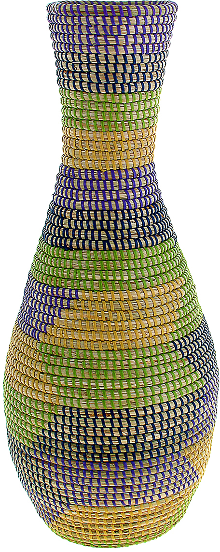 """Ваза плетёная """"Тхань"""" – это настоящее произведение искусства. Вьетнамские ремесленники долго и кропотливо, стежок за стежком, плели эту  невероятную экзотическую вазу из настоящих морских водорослей. Вы только взгляните: ровный рисунок, чёткие линии, приятные тона -  чувствуется опытная рука мастера. Пусть эта роскошная Ваза плетеная """"Тхань""""станет приятным подарком ценителю плетёных изделий, коллекционеру экзотических аксессуаров  или даме с завидным вкусом. Разместите её в комнате на самом видном месте, создайте композицию с декоративными ветками, сухоцветами,  чтобы привнести ощущение легкости, изящества и тепла. Ведь известно, что уют проявляется в деталях. Так как ваза плетёная в неё нельзя наливать воду или любую другую жидкость."""