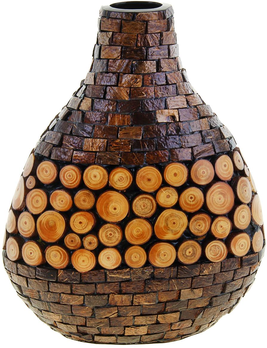 Ваза Коко, цвет: коричневый, 36 см1048144Глядя на эту невероятную вазу, невольно задаёшься вопросом: «Как вьетнамским мастерам удалось это сделать, объединить несколько абсолютно различных высококлассных материалов?» Ваза Коко, 36 см - шедевр в полном смысле этого слова. Вьетнамские мастера вручную создавали её, в несколько этапов и даже дней. Вы только посмотрите на эти маленькие пенёчки, так и хочется дотронуться до них, прикоснуться к каждой детали этой вазы… Её можно преподнести даме с хорошим вкусом, на праздник или даже без повода, ведь для такого роскошного подарка не нужна причина. Ваза будет отлично смотреться в интерьере гостиной комнаты у Вас дома, в офисе, например, в переговорной, приёмной, чтобы Ваши партнеры по бизнесу или коллеги смогли любоваться ей.