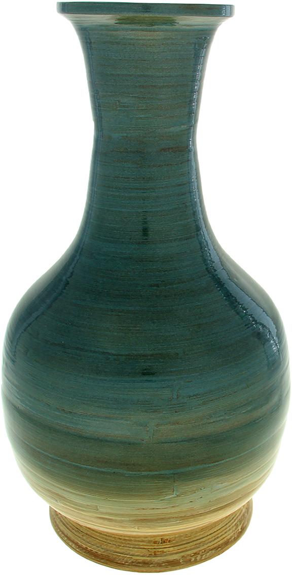 Ваза Бездна, цвет: зеленый, 22 см1053755Вьетнамская Ваза Бездна, 40 см выполнена из натурального бамбука вручную мастерами-ремесленниками в соответствии с древними традициями обработки этого волшебного дерева. Необычная фактура, цвет, форма, завораживают взгляд. Она станет прекрасным дополнением любой комнаты. Поставьте в неё красивую композицию из ветвей, трав, сухоцветов или даже гирлянд. Также эта великолепная ваза будет отлично смотреться как самостоятельный предмет интерьера. Она элегантна и восхитительна сама по себе! Нежелательно в вазу наливать воду, так как она плохо переносит сырость из-за отсутствия лака на внутренних стенках. Отлично подойдет в качестве украшения дома или офиса, а также под декоративные цветы.