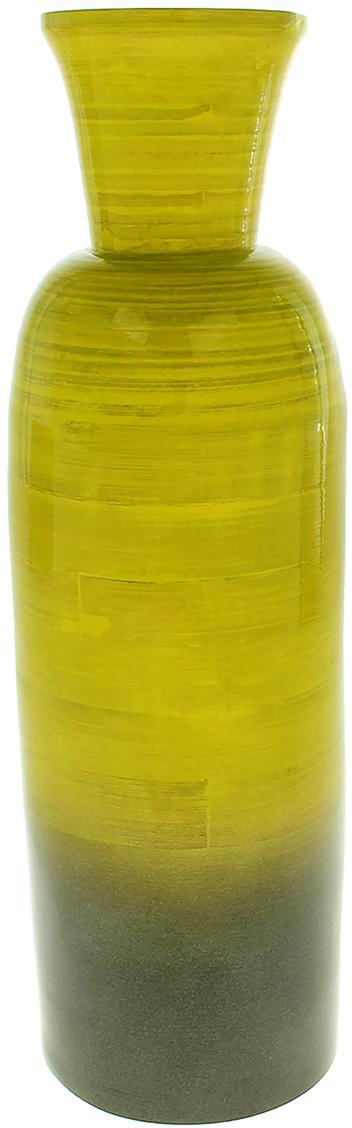 Ваза Грин, цвет: желтый, 43 см1053761Вьетнамская ваза Грин выполнена из натурального бамбука вручную мастерами-ремесленниками в соответствии с древними традициями обработки этого волшебного дерева. Необычная фактура, цвет, форма, завораживают взгляд. Она станет прекрасным дополнением любой комнаты. Поставьте в неё красивую композицию из ветвей, трав, сухоцветов или даже гирлянд. Также эта великолепная ваза будет отлично смотреться как самостоятельный предмет интерьера. Она элегантна и восхитительна сама по себе! Нежелательно в вазу наливать воду, так как она плохо переносит сырость из-за отсутствия лака на внутренних стенках. Отлично подойдет в качестве украшения дома или офиса, а также под декоративные цветы.
