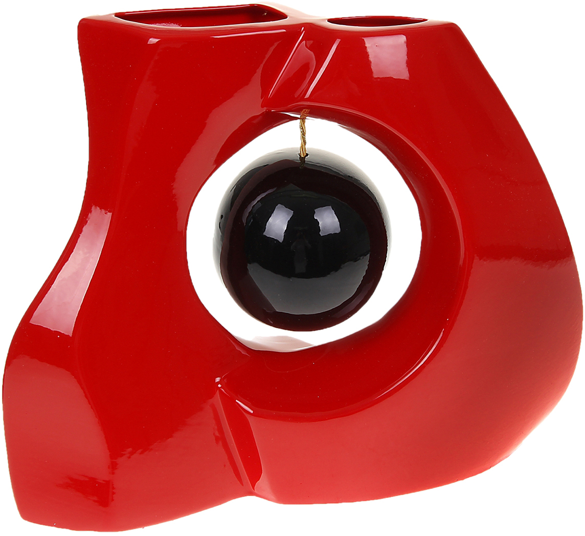 Ваза Керамика ручной работы Принцип, цвет: красный1067016Ваза - сувенир в полном смысле этого слова. И главная его задача - хранить воспоминание о месте, где вы побывали, или о том человеке, который подарил данный предмет. Преподнесите эту вещь своему другу, и она станет достойным украшением его дома. Каждому хозяину периодически приходит мысль обновить свою квартиру, сделать ремонт, перестановку или кардинально поменять внешний вид каждой комнаты. Ваза - привлекательная деталь, которая поможет воплотить вашу интерьерную идею, создать неповторимую атмосферу в вашем доме. Окружите себя приятными мелочами, пусть они радуют глаз и дарят гармонию.