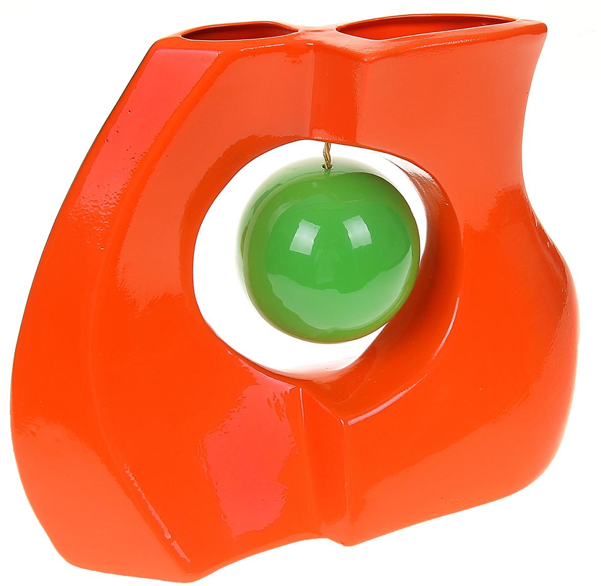 Ваза Керамика ручной работы Принцип, цвет: оранжевый1067017Ваза - сувенир в полном смысле этого слова. И главная его задача - хранить воспоминание о месте, где вы побывали, или о том человеке, который подарил данный предмет. Преподнесите эту вещь своему другу, и она станет достойным украшением его дома. Каждому хозяину периодически приходит мысль обновить свою квартиру, сделать ремонт, перестановку или кардинально поменять внешний вид каждой комнаты. Ваза - привлекательная деталь, которая поможет воплотить вашу интерьерную идею, создать неповторимую атмосферу в вашем доме. Окружите себя приятными мелочами, пусть они радуют глаз и дарят гармонию.