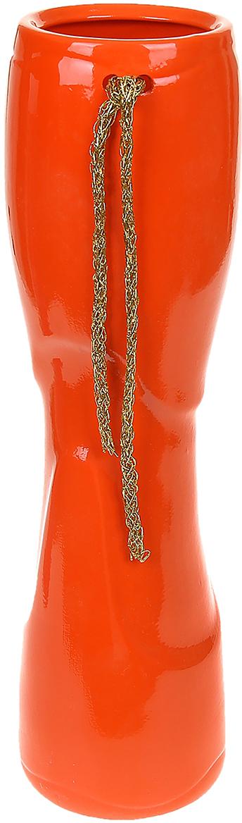 Ваза Керамика ручной работы Роксен, цвет: оранжевый, большая1067068Ваза - сувенир в полном смысле этого слова. И главная его задача - хранить воспоминание о месте, где вы побывали, или о том человеке, который подарил данный предмет. Преподнесите эту вещь своему другу, и она станет достойным украшением его дома. Каждому хозяину периодически приходит мысль обновить свою квартиру, сделать ремонт, перестановку или кардинально поменять внешний вид каждой комнаты. Ваза - привлекательная деталь, которая поможет воплотить вашу интерьерную идею, создать неповторимую атмосферу в вашем доме. Окружите себя приятными мелочами, пусть они радуют глаз и дарят гармонию.