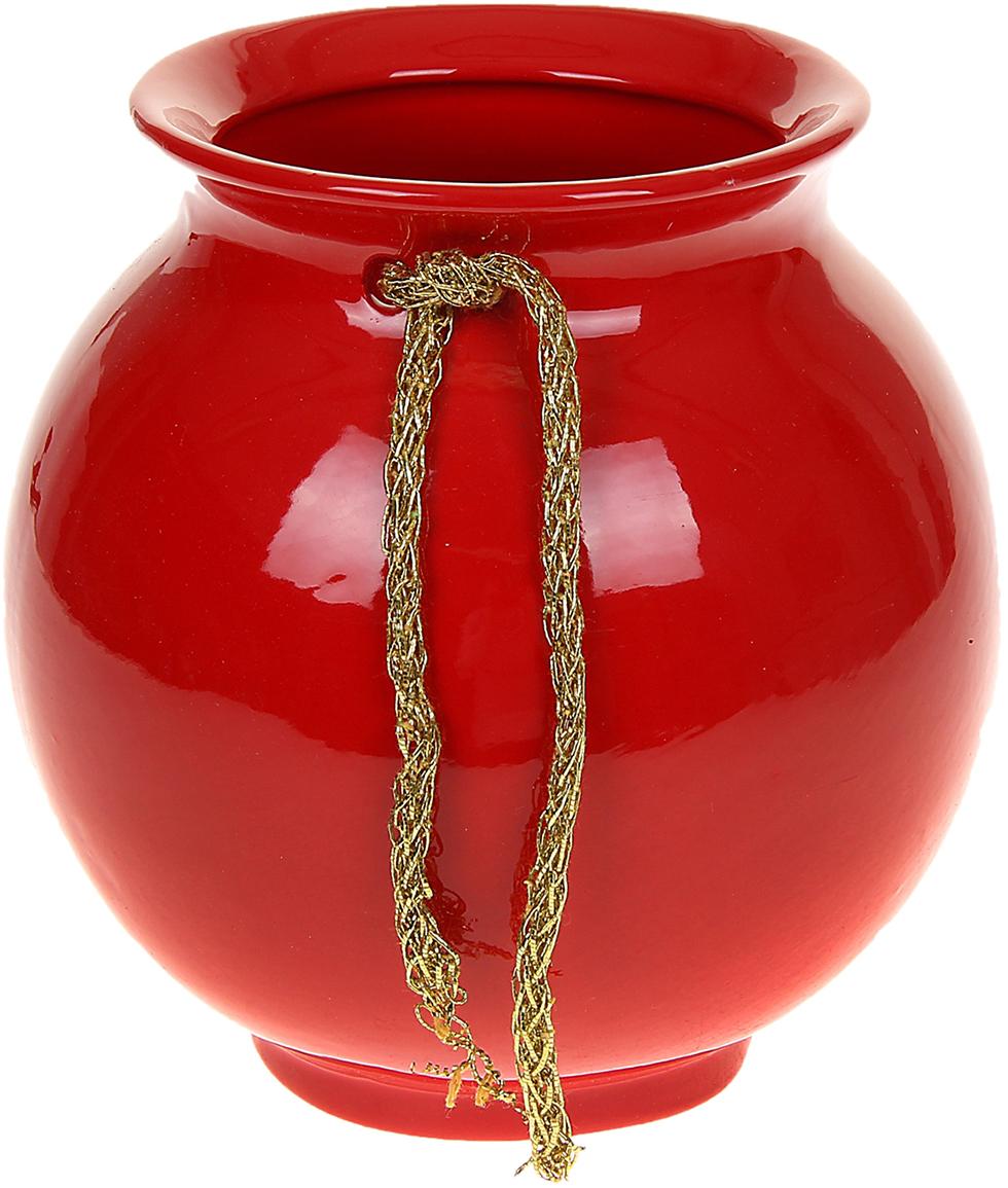 Ваза Керамика ручной работы Шар, цвет: красный, малая1067073Ваза - сувенир в полном смысле этого слова. И главная его задача - хранить воспоминание о месте, где вы побывали, или о том человеке, который подарил данный предмет. Преподнесите эту вещь своему другу, и она станет достойным украшением его дома. Каждому хозяину периодически приходит мысль обновить свою квартиру, сделать ремонт, перестановку или кардинально поменять внешний вид каждой комнаты. Ваза - привлекательная деталь, которая поможет воплотить вашу интерьерную идею, создать неповторимую атмосферу в вашем доме. Окружите себя приятными мелочами, пусть они радуют глаз и дарят гармонию.