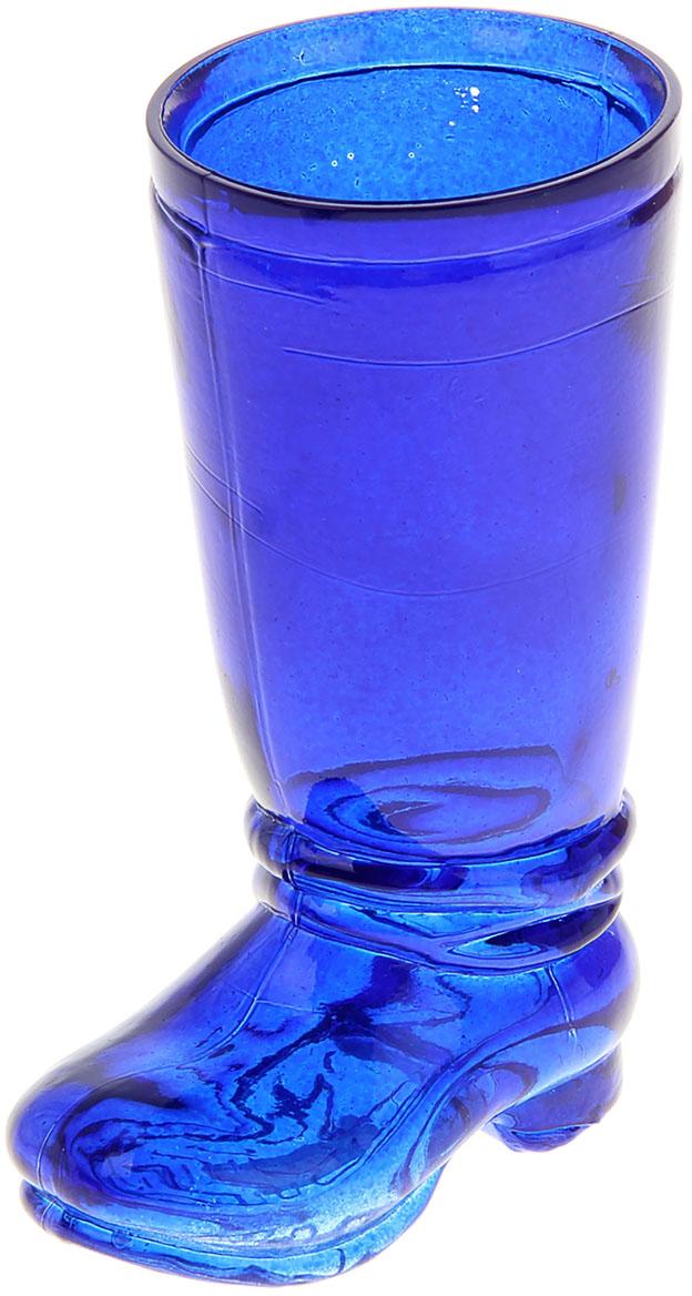 Ваза Evis Ботфорт, цвет: синий, 460 мл1096752Ваза - не просто сосуд для букета, а украшение убранства. Поставьте в неё цветы или декоративные веточки, и эффектный интерьерный акцент готов! Стеклянный аксессуар добавит помещению лёгкости. Ваза Ботфорт преобразит пространство и как самостоятельный элемент декора. Наполните интерьер уютом! Каждая ваза выдувается мастером. Второй точно такой же не встретить. А случайный пузырёк воздуха или застывшая стеклянная капелька на горлышке лишь подчёркивают её уникальность.