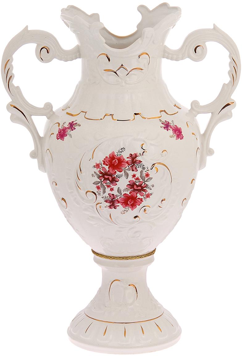 Ваза напольная Керамика ручной работы Астория, цвет: белый. 11000601100060Это ваза - отличный способ подчеркнуть общий стиль интерьера. Существует множество причин иметь такой предмет дома. Вот лишь некоторые из них: Формирование праздничного настроения. Можно украсить вазу к Новому году гирляндой, тюльпанами на 8 марта, розами на день Святого Валентина, вербой на Пасху. За счёт того, что это заметный элемент интерьера, вы легко и быстро создадите во всём доме праздничное настроение. Заполнение углов, подиумов, ниш. Таким образом можно сделать обстановку более уютной и многогранной. Создание групповой композиции. Если позволяет площадь пространства, разместите несколько ваз так, чтобы они сочетались по стилю или цветовому решению. Это придаст обстановке более завершённый вид. Подходящая форма и стиль этого предмета подчеркнут достоинства дизайна квартиры. Ваза может стать отличным подарком по любому поводу, ведь такой элемент интерьера практичен и способен каждый день создавать хорошее настроение!