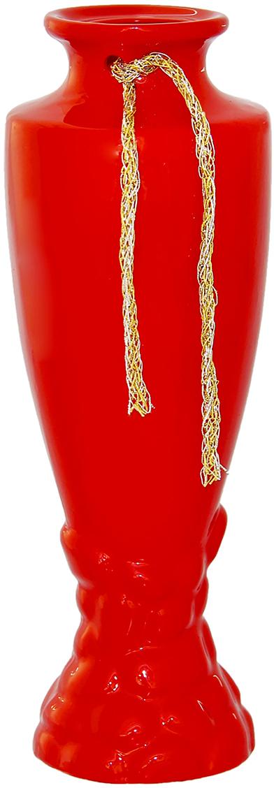 Ваза Керамика ручной работы Амфора, цвет: красный, высота 30 см1102214Ваза - сувенир в полном смысле этого слова. И главная его задача - хранить воспоминание о месте, где вы побывали, или о том человеке, который подарил данный предмет. Преподнесите эту вещь своему другу, и она станет достойным украшением его дома. Каждому хозяину периодически приходит мысль обновить свою квартиру, сделать ремонт, перестановку или кардинально поменять внешний вид каждой комнаты. Ваза - привлекательная деталь, которая поможет воплотить вашу интерьерную идею, создать неповторимую атмосферу в вашем доме. Окружите себя приятными мелочами, пусть они радуют глаз и дарят гармонию.