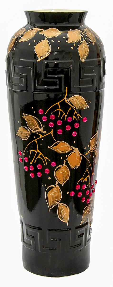Ваза напольная Керамика ручной работы Арго, цвет: черный1119380Это ваза - отличный способ подчеркнуть общий стиль интерьера. Существует множество причин иметь такой предмет дома. Вот лишь некоторые из них: Формирование праздничного настроения. Можно украсить вазу к Новому году гирляндой, тюльпанами на 8 марта, розами на день Святого Валентина, вербой на Пасху. За счёт того, что это заметный элемент интерьера, вы легко и быстро создадите во всём доме праздничное настроение. Заполнение углов, подиумов, ниш. Таким образом можно сделать обстановку более уютной и многогранной. Создание групповой композиции. Если позволяет площадь пространства, разместите несколько ваз так, чтобы они сочетались по стилю или цветовому решению. Это придаст обстановке более завершённый вид. Подходящая форма и стиль этого предмета подчеркнут достоинства дизайна квартиры. Ваза может стать отличным подарком по любому поводу, ведь такой элемент интерьера практичен и способен каждый день создавать хорошее настроение!
