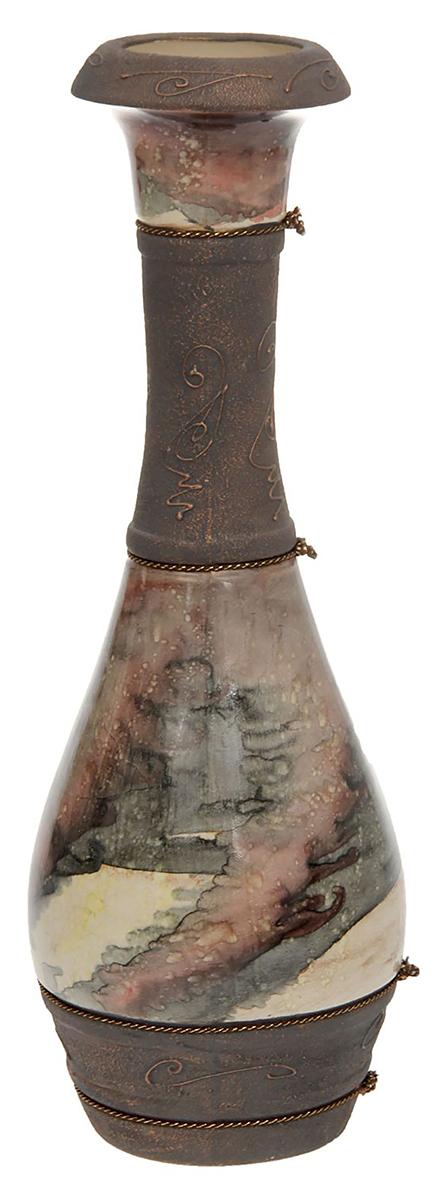 Ваза напольная Керамика ручной работы Олимп, цвет: коричневый1136800Это ваза - отличный способ подчеркнуть общий стиль интерьера.Существует множество причин иметь такой предмет дома. Вот лишь некоторые из них:Формирование праздничного настроения. Можно украсить вазу к Новому году гирляндой, тюльпанами на 8 марта, розами на день Святого Валентина, вербой на Пасху. За счёт того, что это заметный элемент интерьера, вы легко и быстро создадите во всём доме праздничное настроение.Заполнение углов, подиумов, ниш. Таким образом можно сделать обстановку более уютной и многогранной.Создание групповой композиции. Если позволяет площадь пространства, разместите несколько ваз так, чтобы они сочетались по стилю или цветовому решению. Это придаст обстановке более завершённый вид.Подходящая форма и стиль этого предмета подчеркнут достоинства дизайна квартиры. Ваза может стать отличным подарком по любому поводу, ведь такой элемент интерьера практичен и способен каждый день создавать хорошее настроение!