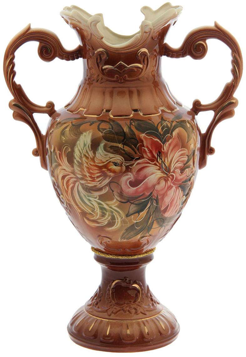 Ваза напольная Керамика ручной работы Астория, цвет: коричневый1144840Это ваза - отличный способ подчеркнуть общий стиль интерьера.Существует множество причин иметь такой предмет дома. Вот лишь некоторые из них:Формирование праздничного настроения. Можно украсить вазу к Новому году гирляндой, тюльпанами на 8 марта, розами на день Святого Валентина, вербой на Пасху. За счёт того, что это заметный элемент интерьера, вы легко и быстро создадите во всём доме праздничное настроение.Заполнение углов, подиумов, ниш. Таким образом можно сделать обстановку более уютной и многогранной.Создание групповой композиции. Если позволяет площадь пространства, разместите несколько ваз так, чтобы они сочетались по стилю или цветовому решению. Это придаст обстановке более завершённый вид.Подходящая форма и стиль этого предмета подчеркнут достоинства дизайна квартиры. Ваза может стать отличным подарком по любому поводу, ведь такой элемент интерьера практичен и способен каждый день создавать хорошее настроение!