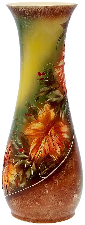 Ваза напольная Керамика ручной работы Осень, цвет: коричневый1148259Ваза напольная Осень оранжевые цветы, салатовая - отличный способ подчеркнуть общий стиль интерьера.Существует множество причин иметь такой предмет дома. Вот лишь некоторые из них:Формирование праздничного настроения. Можно украсить вазу к Новому году гирляндой, тюльпанами на 8 марта, розами на день Святого Валентина, вербой на Пасху. За счёт того, что это заметный элемент интерьера, вы легко и быстро создадите во всём доме праздничное настроение.Заполнение углов, подиумов, ниш. Таким образом можно сделать обстановку более уютной и многогранной.Создание групповой композиции. Если позволяет площадь пространства, разместите несколько ваз так, чтобы они сочетались по стилю или цветовому решению. Это придаст обстановке более завершённый вид.Подходящая форма и стиль этого предмета подчеркнут достоинства дизайна квартиры. Ваза может стать отличным подарком по любому поводу, ведь такой элемент интерьера практичен и способен каждый день создавать хорошее настроение!