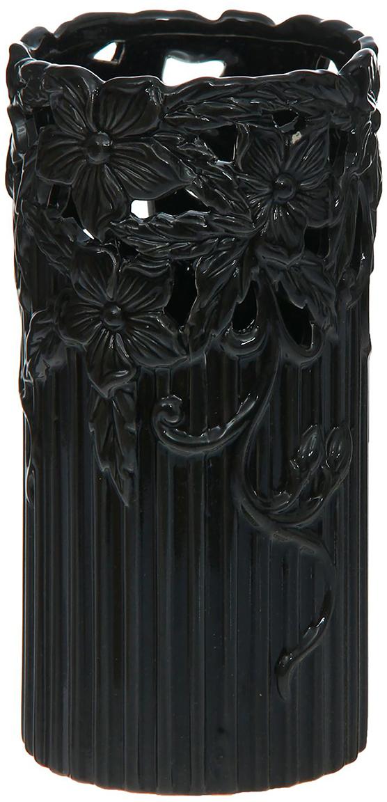 Ваза Цветочная феерия, цвет: черный, 22,5 см1148942Ваза - сувенир в полном смысле этого слова. И главная его задача - хранить воспоминание о месте, где вы побывали, или о том человеке, который подарил данный предмет. Преподнесите эту вещь своему другу, и она станет достойным украшением его дома. Каждому хозяину периодически приходит мысль обновить свою квартиру, сделать ремонт, перестановку или кардинально поменять внешний вид каждой комнаты. Ваза - привлекательная деталь, которая поможет воплотить вашу интерьерную идею, создать неповторимую атмосферу в вашем доме. Окружите себя приятными мелочами, пусть они радуют глаз и дарят гармонию.