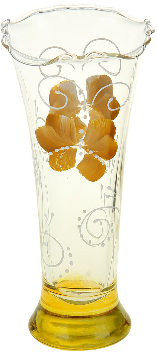 Ваза Бабочка, 18 см1159245Ваза - не просто сосуд для букета, а украшение убранства. Поставьте в неё цветы или декоративные веточки, и эффектный интерьерный акцент готов! Стеклянный аксессуар добавит помещению лёгкости. Ваза Бабочка, жёлтая преобразит пространство и как самостоятельный элемент декора. Наполните интерьер уютом! Каждая ваза выдувается мастером. Второй точно такой же не встретить. А случайный пузырёк воздуха или застывшая стеклянная капелька на горлышке лишь подчёркивают её уникальность.