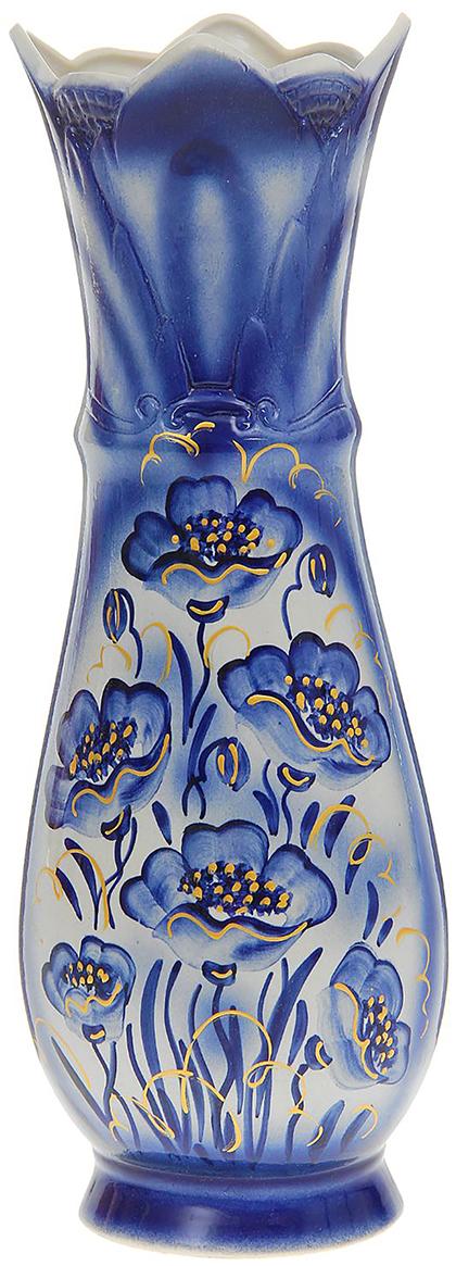 Ваза напольная Керамика ручной работы Виктория, цвет: синий, большая1164505Ваза - сувенир в полном смысле этого слова. И главная его задача - хранить воспоминание о месте, где вы побывали, или о том человеке, который подарил данный предмет. Преподнесите эту вещь своему другу, и она станет достойным украшением его дома. Каждому хозяину периодически приходит мысль обновить свою квартиру, сделать ремонт, перестановку или кардинально поменять внешний вид каждой комнаты. Ваза - привлекательная деталь, которая поможет воплотить вашу интерьерную идею, создать неповторимую атмосферу в вашем доме. Окружите себя приятными мелочами, пусть они радуют глаз и дарят гармонию.