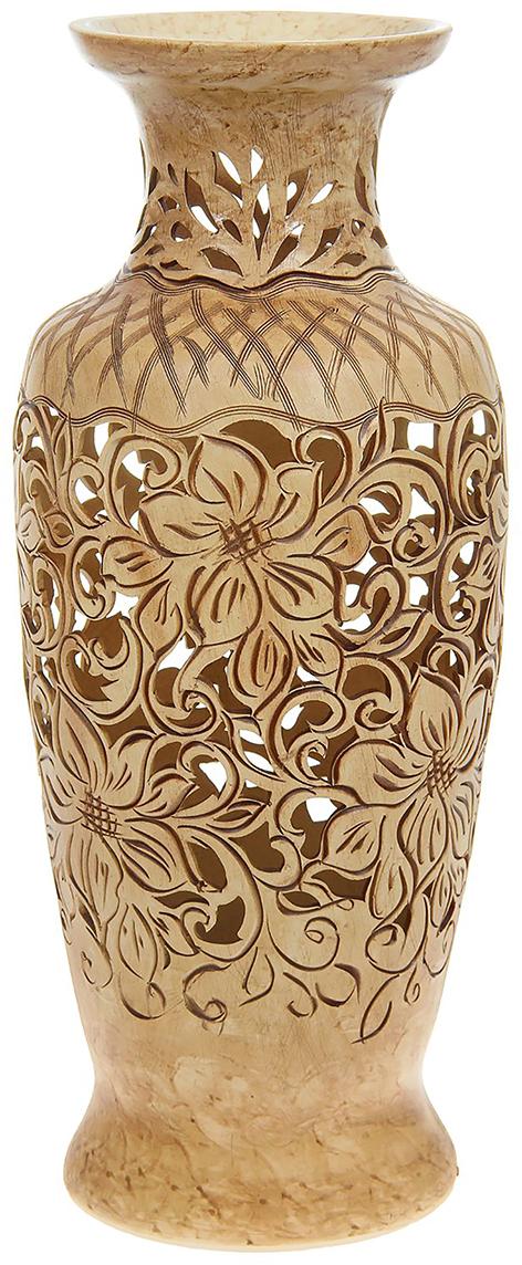 Ваза напольная Керамика ручной работы Белла, цвет: бежевый, резка. 11646731164673Ваза напольная Белла резка, цветочная фантазия - отличный способ подчеркнуть общий стиль интерьера. Существует множество причин иметь такой предмет дома. Вот лишь некоторые из них: Формирование праздничного настроения. Можно украсить вазу к Новому году гирляндой, тюльпанами на 8 марта, розами на день Святого Валентина, вербой на Пасху. За счёт того, что это заметный элемент интерьера, вы легко и быстро создадите во всём доме праздничное настроение. Заполнение углов, подиумов, ниш. Таким образом можно сделать обстановку более уютной и многогранной. Создание групповой композиции. Если позволяет площадь пространства, разместите несколько ваз так, чтобы они сочетались по стилю или цветовому решению. Это придаст обстановке более завершённый вид. Подходящая форма и стиль этого предмета подчеркнут достоинства дизайна квартиры. Ваза может стать отличным подарком по любому поводу, ведь такой элемент интерьера практичен и способен каждый день создавать хорошее настроение!