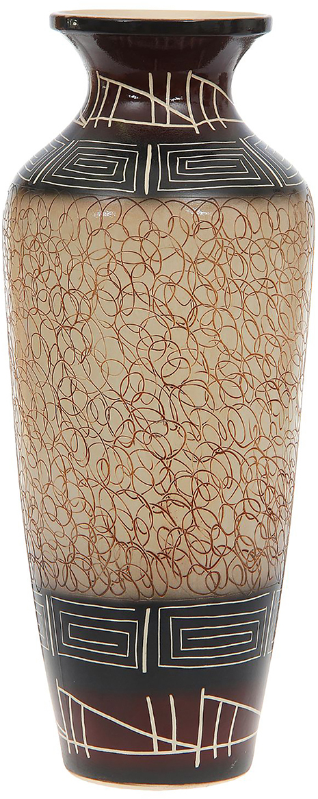 Ваза напольная Керамика ручной работы Виктория, цвет: коричневый. 11646741164674Это ваза - отличный способ подчеркнуть общий стиль интерьера. Существует множество причин иметь такой предмет дома. Вот лишь некоторые из них: Формирование праздничного настроения. Можно украсить вазу к Новому году гирляндой, тюльпанами на 8 марта, розами на день Святого Валентина, вербой на Пасху. За счёт того, что это заметный элемент интерьера, вы легко и быстро создадите во всём доме праздничное настроение. Заполнение углов, подиумов, ниш. Таким образом можно сделать обстановку более уютной и многогранной. Создание групповой композиции. Если позволяет площадь пространства, разместите несколько ваз так, чтобы они сочетались по стилю или цветовому решению. Это придаст обстановке более завершённый вид. Подходящая форма и стиль этого предмета подчеркнут достоинства дизайна квартиры. Ваза может стать отличным подарком по любому поводу, ведь такой элемент интерьера практичен и способен каждый день создавать хорошее настроение!