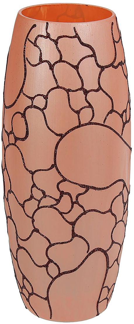 """Ваза """"Пески"""" - не просто сосуд для букета, а украшение убранства. Поставьте в неё цветы или декоративные веточки, и эффектный интерьерный акцент готов! Стеклянный аксессуар добавит помещению лёгкости. Ваза """"Пески"""" преобразит пространство и как самостоятельный элемент декора. Наполните интерьер уютом! Каждая ваза выдувается мастером. Второй точно такой же не встретить. А случайный пузырёк воздуха или застывшая стеклянная капелька на горлышке лишь подчёркивают её уникальность."""