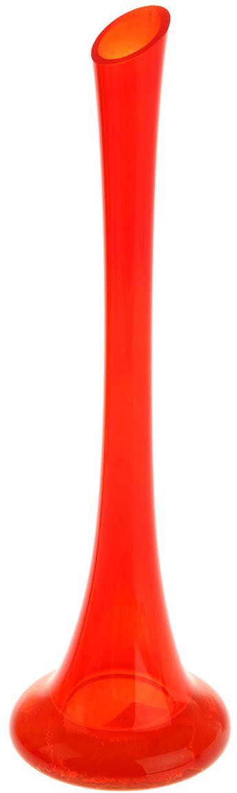 Ваза Evis Пять вечеров, цвет: красный, 0,45 л1169883Ваза - не просто сосуд для букета, а украшение убранства. Поставьте в неё цветы или декоративные веточки, и эффектный интерьерный акцент готов! Стеклянный аксессуар добавит помещению лёгкости.Ваза Пять вечеров алая, глянцевая, фристайл 0,45 л преобразит пространство и как самостоятельный элемент декора. Наполните интерьер уютом!Каждая ваза выдувается мастером. Второй точно такой же не встретить. А случайный пузырёк воздуха или застывшая стеклянная капелька на горлышке лишь подчёркивают её уникальность.