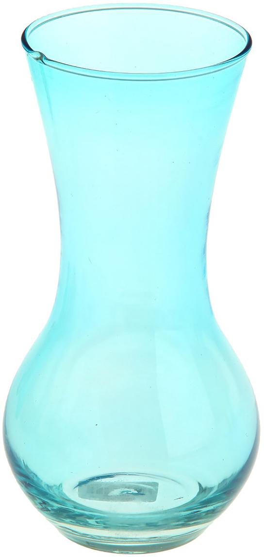 Ваза Evis Весна, цвет: голубой, 18 см ваза бокал evis бренди высота 11 см