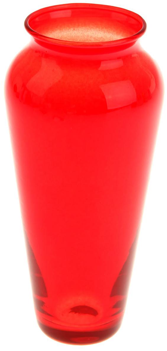 Ваза Evis Весна, цвет: красный, 0,15 л1169933Ваза - не просто сосуд для букета, а украшение убранства. Поставьте в неё цветы или декоративные веточки, и эффектный интерьерный акцент готов! Стеклянный аксессуар добавит помещению лёгкости.Ваза Весна красная, 0,15 л преобразит пространство и как самостоятельный элемент декора. Наполните интерьер уютом!Каждая ваза выдувается мастером. Второй точно такой же не встретить. А случайный пузырёк воздуха или застывшая стеклянная капелька на горлышке лишь подчёркивают её уникальность.