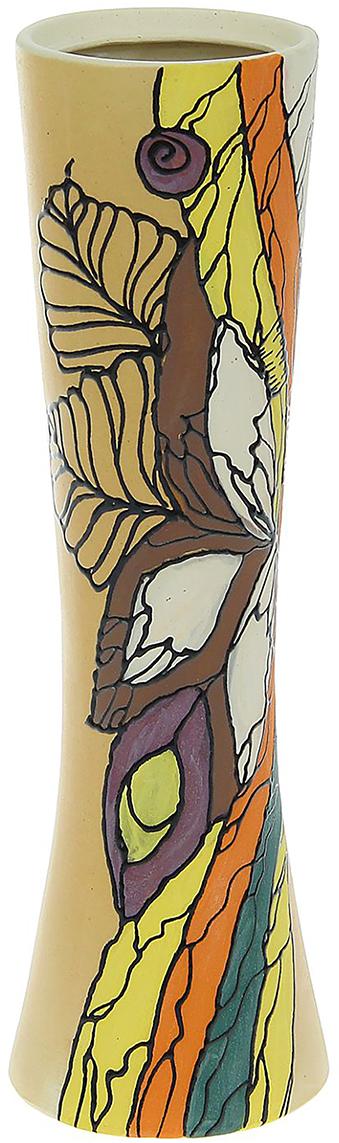 Ваза Керамика ручной работы Марика-Росса, цвет: коричневый, большая. 11749771174977Ваза - сувенир в полном смысле этого слова. И главная его задача - хранить воспоминание о месте, где вы побывали, или о том человеке, который подарил данный предмет. Преподнесите эту вещь своему другу, и она станет достойным украшением его дома. Каждому хозяину периодически приходит мысль обновить свою квартиру, сделать ремонт, перестановку или кардинально поменять внешний вид каждой комнаты. Ваза - привлекательная деталь, которая поможет воплотить вашу интерьерную идею, создать неповторимую атмосферу в вашем доме. Окружите себя приятными мелочами, пусть они радуют глаз и дарят гармонию.