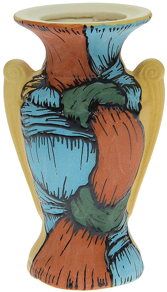 Ваза Керамика ручной работы Африта, цвет: коричневый, малая. 11758161175816Ваза - сувенир в полном смысле этого слова. И главная его задача - хранить воспоминание о месте, где вы побывали, или о том человеке, который подарил данный предмет. Преподнесите эту вещь своему другу, и она станет достойным украшением его дома.Каждому хозяину периодически приходит мысль обновить свою квартиру, сделать ремонт, перестановку или кардинально поменять внешний вид каждой комнаты. Ваза - привлекательная деталь, которая поможет воплотить вашу интерьерную идею, создать неповторимую атмосферу в вашем доме. Окружите себя приятными мелочами, пусть они радуют глаз и дарят гармонию.