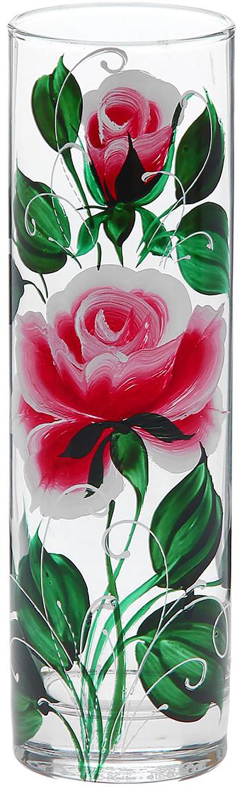 Ваза Flora Благородная роза, 26,5 см1184322Ваза - не просто сосуд для букета, а украшение убранства. Поставьте в неё цветы или декоративные веточки, и эффектный интерьерный акцент готов! Стеклянный аксессуар добавит помещению лёгкости. Ваза Flora Благородная роза преобразит пространство и как самостоятельный элемент декора. Наполните интерьер уютом! Каждая ваза выдувается мастером. Второй точно такой же не встретить. А случайный пузырёк воздуха или застывшая стеклянная капелька на горлышке лишь подчёркивают её уникальность.