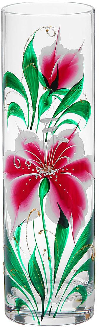 Ваза Flora Шелковистая лилия, 26,5 см1184324Ваза Flora Шелковистая лилия - не просто сосуд для букета, а украшение убранства. Поставьте в неё цветы или декоративные веточки, и эффектный интерьерный акцент готов! Стеклянный аксессуар добавит помещению лёгкости. Ваза Flora Шелковистая лилия преобразит пространство и как самостоятельный элемент декора. Наполните интерьер уютом! Каждая ваза выдувается мастером. Второй точно такой же не встретить. А случайный пузырёк воздуха или застывшая стеклянная капелька на горлышке лишь подчёркивают её уникальность.