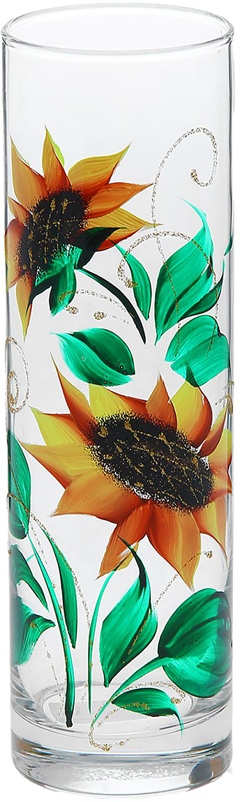 Ваза Flora Подсолнух, 26,5 см1184325Ваза - не просто сосуд для букета, а украшение убранства. Поставьте в неё цветы или декоративные веточки, и эффектный интерьерный акцент готов! Стеклянный аксессуар добавит помещению лёгкости. Ваза Flora Подсолнух преобразит пространство и как самостоятельный элемент декора. Наполните интерьер уютом! Каждая ваза выдувается мастером. Второй точно такой же не встретить. А случайный пузырёк воздуха или застывшая стеклянная капелька на горлышке лишь подчёркивают её уникальность.