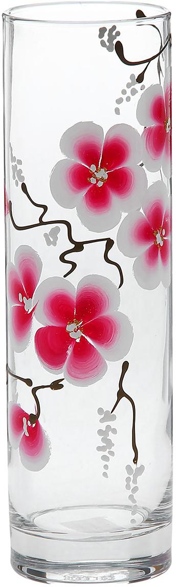 Ваза Flora Роскошная сакура, 26,5 см1184328Ваза - не просто сосуд для букета, а украшение убранства. Поставьте в неё цветы или декоративные веточки, и эффектный интерьерный акцент готов! Стеклянный аксессуар добавит помещению лёгкости. Ваза Flora Роскошная сакура преобразит пространство и как самостоятельный элемент декора. Наполните интерьер уютом! Каждая ваза выдувается мастером. Второй точно такой же не встретить. А случайный пузырёк воздуха или застывшая стеклянная капелька на горлышке лишь подчёркивают её уникальность.