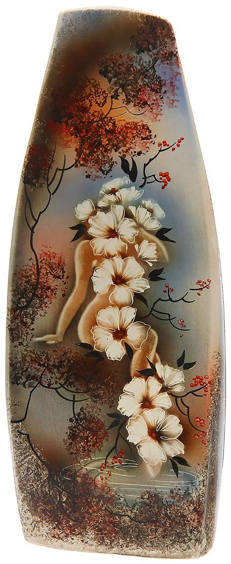 Ваза напольная Керамика ручной работы Скала, цвет: коричневый. 11846421184642Это ваза - отличный способ подчеркнуть общий стиль интерьера. Существует множество причин иметь такой предмет дома. Вот лишь некоторые из них: Формирование праздничного настроения. Можно украсить вазу к Новому году гирляндой, тюльпанами на 8 марта, розами на день Святого Валентина, вербой на Пасху. За счёт того, что это заметный элемент интерьера, вы легко и быстро создадите во всём доме праздничное настроение. Заполнение углов, подиумов, ниш. Таким образом можно сделать обстановку более уютной и многогранной. Создание групповой композиции. Если позволяет площадь пространства, разместите несколько ваз так, чтобы они сочетались по стилю или цветовому решению. Это придаст обстановке более завершённый вид. Подходящая форма и стиль этого предмета подчеркнут достоинства дизайна квартиры. Ваза может стать отличным подарком по любому поводу, ведь такой элемент интерьера практичен и способен каждый день создавать хорошее настроение!