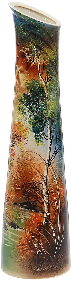 Ваза напольная Керамика ручной работы Стелла, цвет: коричневый. 11846531184653Ваза напольная Стелла русская березка - отличный способ подчеркнуть общий стиль интерьера. Существует множество причин иметь такой предмет дома. Вот лишь некоторые из них: Формирование праздничного настроения. Можно украсить вазу к Новому году гирляндой, тюльпанами на 8 марта, розами на день Святого Валентина, вербой на Пасху. За счёт того, что это заметный элемент интерьера, вы легко и быстро создадите во всём доме праздничное настроение. Заполнение углов, подиумов, ниш. Таким образом можно сделать обстановку более уютной и многогранной. Создание групповой композиции. Если позволяет площадь пространства, разместите несколько ваз так, чтобы они сочетались по стилю или цветовому решению. Это придаст обстановке более завершённый вид. Подходящая форма и стиль этого предмета подчеркнут достоинства дизайна квартиры. Ваза может стать отличным подарком по любому поводу, ведь такой элемент интерьера практичен и способен каждый день создавать хорошее настроение!