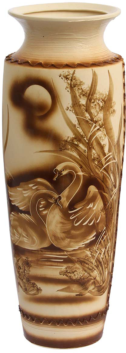 Ваза напольная Керамика ручной работы София, цвет: коричневый, большая1188138Это ваза - отличный способ подчеркнуть общий стиль интерьера. Существует множество причин иметь такой предмет дома. Вот лишь некоторые из них: Формирование праздничного настроения. Можно украсить вазу к Новому году гирляндой, тюльпанами на 8 марта, розами на день Святого Валентина, вербой на Пасху. За счёт того, что это заметный элемент интерьера, вы легко и быстро создадите во всём доме праздничное настроение. Заполнение углов, подиумов, ниш. Таким образом можно сделать обстановку более уютной и многогранной. Создание групповой композиции. Если позволяет площадь пространства, разместите несколько ваз так, чтобы они сочетались по стилю или цветовому решению. Это придаст обстановке более завершённый вид. Подходящая форма и стиль этого предмета подчеркнут достоинства дизайна квартиры. Ваза может стать отличным подарком по любому поводу, ведь такой элемент интерьера практичен и способен каждый день создавать хорошее настроение!