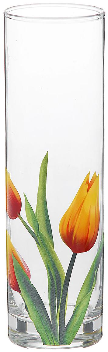 Ваза Decor Style Glass Тюльпан, 26,5 см1188629Ваза - не просто сосуд для букета, а украшение убранства. Поставьте в неё цветы или декоративные веточки, и эффектный интерьерный акцент готов! Стеклянный аксессуар добавит помещению лёгкости.Ваза Тюльпан преобразит пространство и как самостоятельный элемент декора. Наполните интерьер уютом!Каждая ваза выдувается мастером. Второй точно такой же не встретить. А случайный пузырёк воздуха или застывшая стеклянная капелька на горлышке лишь подчёркивают её уникальность.