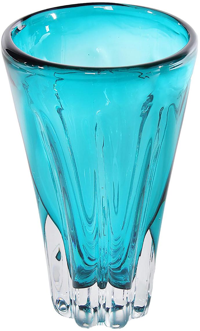 Ваза Эра, цвет: синий, 23 см119108Подарок, подобный вазе Эра, изготовленной из стекла в духе муранского, будет гарантией хорошего настроения, ведь эта изящная вещица нежного лазоревого цвета станет настоящим украшением комнаты. Она станет прекрасным оформлением для самых разных букетов - и для милых скромных ромашек, и для изысканных нежных лилий. Такая ваза наверняка придется по вкусу женщине, обладающей безупречным вкусом и ценящей стильные и элегантные вещи.