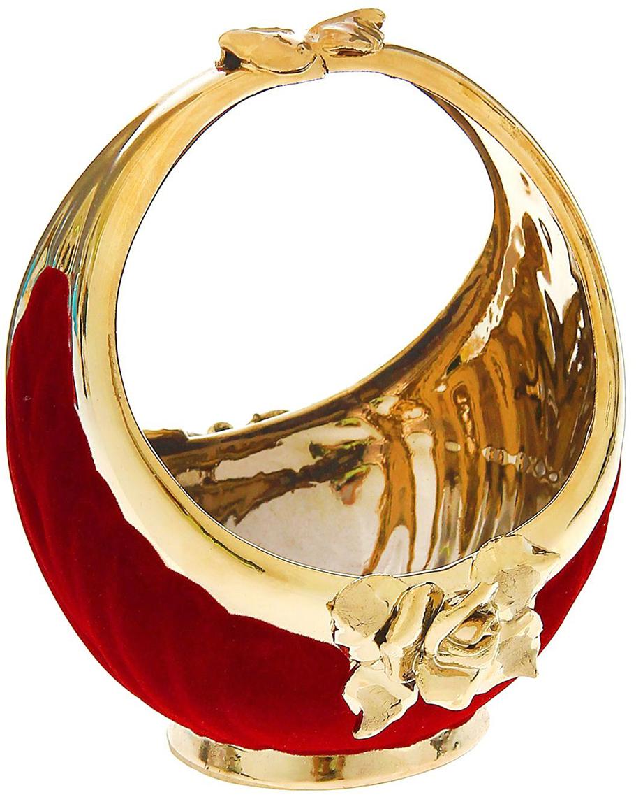 Конфетница Керамика ручной работы Лукошко, цвет: красный1191788Ваза для конфет украсит любую квартиру, дачу или офис. Преподнести её в качестве подарка друзьям или близким – отличная идея. Необычный дизайн и расцветка может вписаться в любой интерьер и стать его уникальным акцентом. Вещь предназначена для подачи конфет, сухофруктов или восточных сладостей.