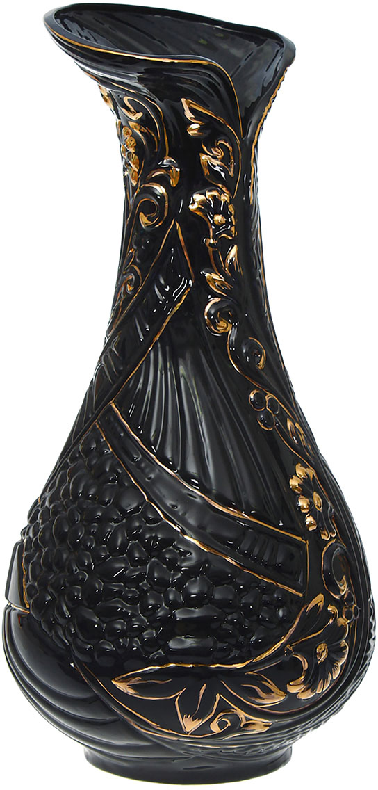 Ваза напольная Керамика ручной работы Каприз, цвет: черный1208745Это ваза - отличный способ подчеркнуть общий стиль интерьера. Существует множество причин иметь такой предмет дома. Вот лишь некоторые из них: Формирование праздничного настроения. Можно украсить вазу к Новому году гирляндой, тюльпанами на 8 марта, розами на день Святого Валентина, вербой на Пасху. За счёт того, что это заметный элемент интерьера, вы легко и быстро создадите во всём доме праздничное настроение. Заполнение углов, подиумов, ниш. Таким образом можно сделать обстановку более уютной и многогранной. Создание групповой композиции. Если позволяет площадь пространства, разместите несколько ваз так, чтобы они сочетались по стилю или цветовому решению. Это придаст обстановке более завершённый вид. Подходящая форма и стиль этого предмета подчеркнут достоинства дизайна квартиры. Ваза может стать отличным подарком по любому поводу, ведь такой элемент интерьера практичен и способен каждый день создавать хорошее настроение!