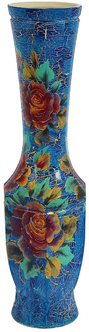 Ваза напольная Керамика ручной работы Нирвана, цвет: синий1239790Это ваза - отличный способ подчеркнуть общий стиль интерьера. Существует множество причин иметь такой предмет дома. Вот лишь некоторые из них: Формирование праздничного настроения. Можно украсить вазу к Новому году гирляндой, тюльпанами на 8 марта, розами на день Святого Валентина, вербой на Пасху. За счёт того, что это заметный элемент интерьера, вы легко и быстро создадите во всём доме праздничное настроение. Заполнение углов, подиумов, ниш. Таким образом можно сделать обстановку более уютной и многогранной. Создание групповой композиции. Если позволяет площадь пространства, разместите несколько ваз так, чтобы они сочетались по стилю или цветовому решению. Это придаст обстановке более завершённый вид. Подходящая форма и стиль этого предмета подчеркнут достоинства дизайна квартиры. Ваза может стать отличным подарком по любому поводу, ведь такой элемент интерьера практичен и способен каждый день создавать хорошее настроение!