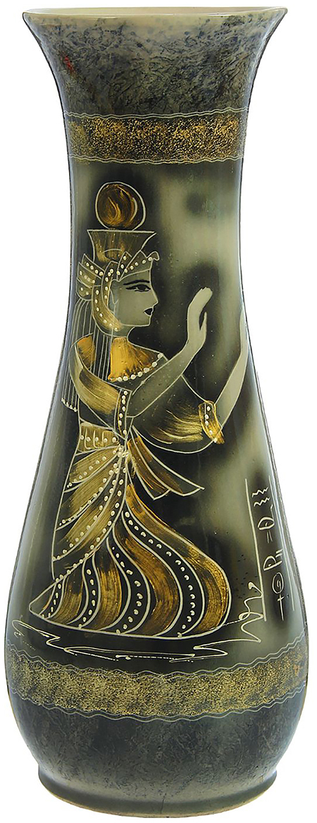 Ваза напольная Керамика ручной работы Осень, цвет: черный. 12397971239797Это ваза - отличный способ подчеркнуть общий стиль интерьера. Существует множество причин иметь такой предмет дома. Вот лишь некоторые из них: Формирование праздничного настроения. Можно украсить вазу к Новому году гирляндой, тюльпанами на 8 марта, розами на день СвятогоВалентина, вербой на Пасху. За счёт того, что это заметный элемент интерьера, вы легко и быстро создадите во всём доме праздничноенастроение. Заполнение углов, подиумов, ниш. Таким образом можно сделать обстановку более уютной и многогранной. Создание групповой композиции. Если позволяет площадь пространства, разместите несколько ваз так, чтобы они сочетались по стилю илицветовому решению. Это придаст обстановке более завершённый вид. Подходящая форма и стиль этого предмета подчеркнут достоинства дизайна квартиры. Ваза может стать отличным подарком по любому поводу,ведь такой элемент интерьера практичен и способен каждый день создавать хорошее настроение!