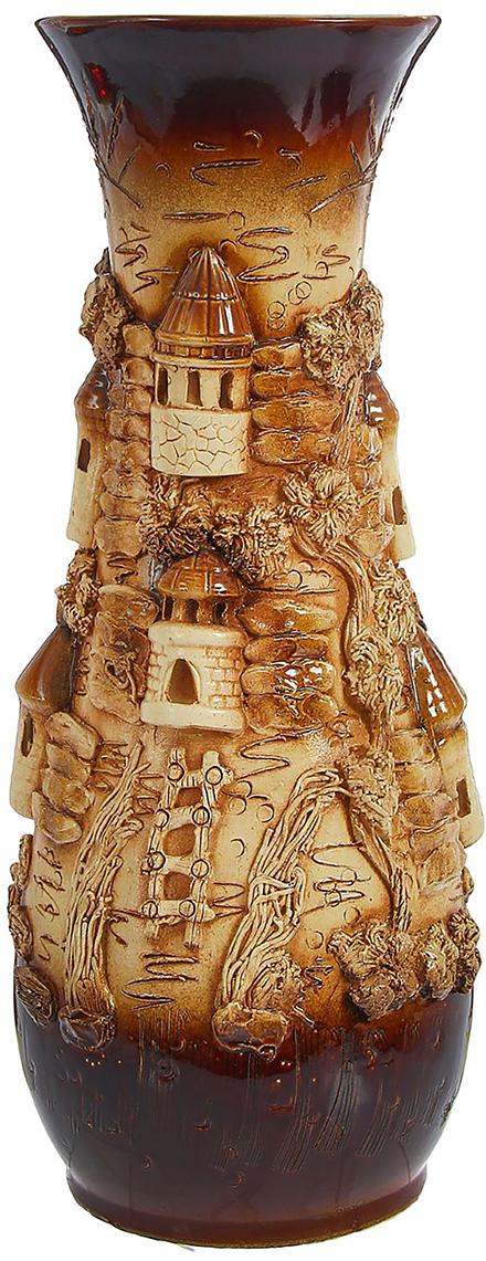 Ваза напольная Керамика ручной работы Осень, цвет: коричневый. 12398941239894Это ваза - отличный способ подчеркнуть общий стиль интерьера. Существует множество причин иметь такой предмет дома. Вот лишь некоторые из них: Формирование праздничного настроения. Можно украсить вазу к Новому году гирляндой, тюльпанами на 8 марта, розами на день Святого Валентина, вербой на Пасху. За счёт того, что это заметный элемент интерьера, вы легко и быстро создадите во всём доме праздничное настроение. Заполнение углов, подиумов, ниш. Таким образом можно сделать обстановку более уютной и многогранной. Создание групповой композиции. Если позволяет площадь пространства, разместите несколько ваз так, чтобы они сочетались по стилю или цветовому решению. Это придаст обстановке более завершённый вид. Подходящая форма и стиль этого предмета подчеркнут достоинства дизайна квартиры. Ваза может стать отличным подарком по любому поводу, ведь такой элемент интерьера практичен и способен каждый день создавать хорошее настроение!