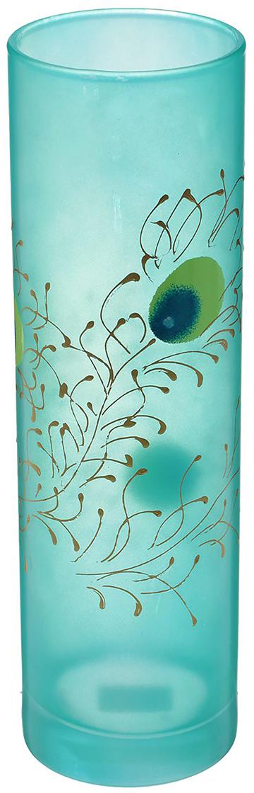 Ваза Пёрышко, цвет: голубой, 26 см1239967Стеклянная ваза Пёрышко - сувенир в полном смысле этого слова. И главная его задача - хранить воспоминание о месте, где вы побывали, или о том человеке, который подарил данный предмет. Преподнесите эту вещь своему другу, и она станет достойным украшением его дома. Каждому хозяину периодически приходит мысль обновить свою квартиру, сделать ремонт, перестановку или кардинально поменять внешний вид каждой комнаты. Ваза - привлекательная деталь, которая поможет воплотить вашу интерьерную идею, создать неповторимую атмосферу в вашем доме. Окружите себя приятными мелочами, пусть они радуют глаз и дарят гармонию.
