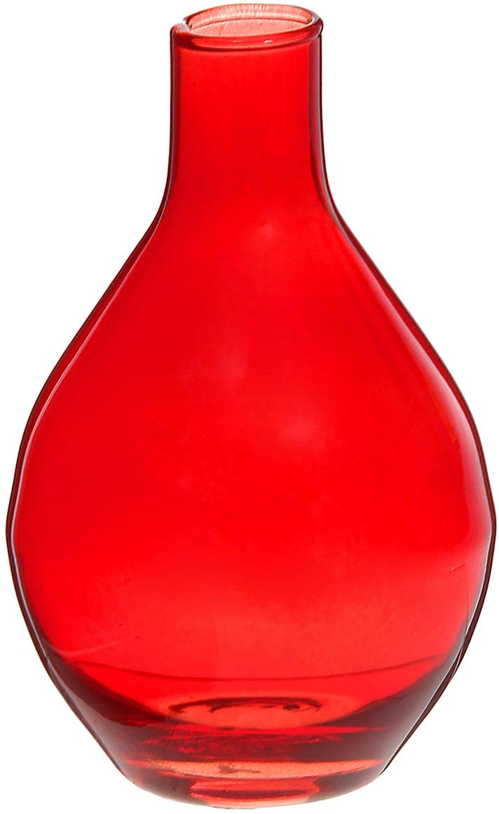 Ваза Evis Кенди, цвет: красный, 0,3 л1248536Ваза - не просто сосуд для букета, а украшение убранства. Поставьте в неё цветы или декоративные веточки, и эффектный интерьерный акцент готов! Стеклянный аксессуар добавит помещению лёгкости.Ваза Кенди луковка, красная, 0,3 л преобразит пространство и как самостоятельный элемент декора. Наполните интерьер уютом!Каждая ваза выдувается мастером. Второй точно такой же не встретить. А случайный пузырёк воздуха или застывшая стеклянная капелька на горлышке лишь подчёркивают её уникальность.