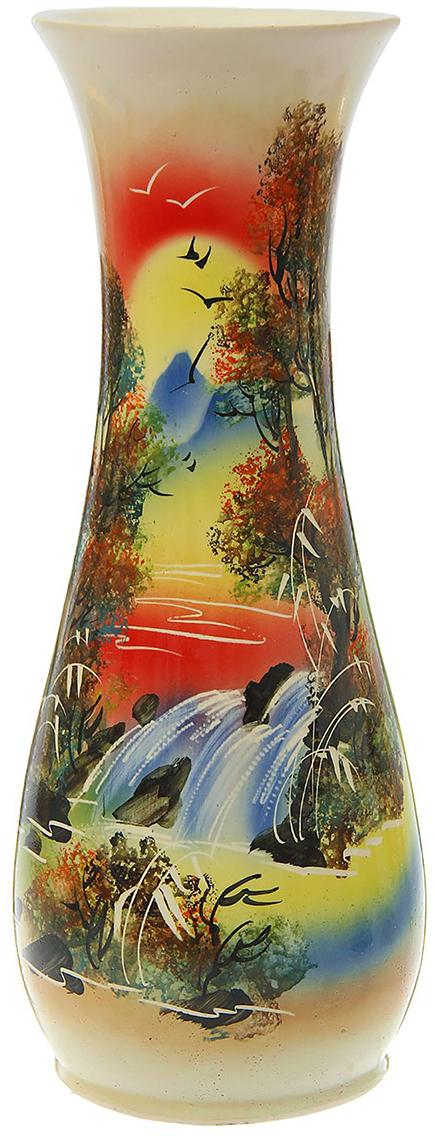 Ваза напольная Керамика ручной работы Осень, цвет: коричневый. 12560421256042Это ваза - отличный способ подчеркнуть общий стиль интерьера. Существует множество причин иметь такой предмет дома. Вот лишь некоторые из них: Формирование праздничного настроения. Можно украсить вазу к Новому году гирляндой, тюльпанами на 8 марта, розами на день СвятогоВалентина, вербой на Пасху. За счёт того, что это заметный элемент интерьера, вы легко и быстро создадите во всём доме праздничноенастроение. Заполнение углов, подиумов, ниш. Таким образом можно сделать обстановку более уютной и многогранной. Создание групповой композиции. Если позволяет площадь пространства, разместите несколько ваз так, чтобы они сочетались по стилю илицветовому решению. Это придаст обстановке более завершённый вид. Подходящая форма и стиль этого предмета подчеркнут достоинства дизайна квартиры. Ваза может стать отличным подарком по любому поводу,ведь такой элемент интерьера практичен и способен каждый день создавать хорошее настроение!
